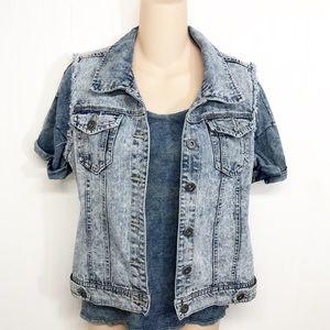 Highway Jeans Stonewashed Denim Jean Jacket Vest